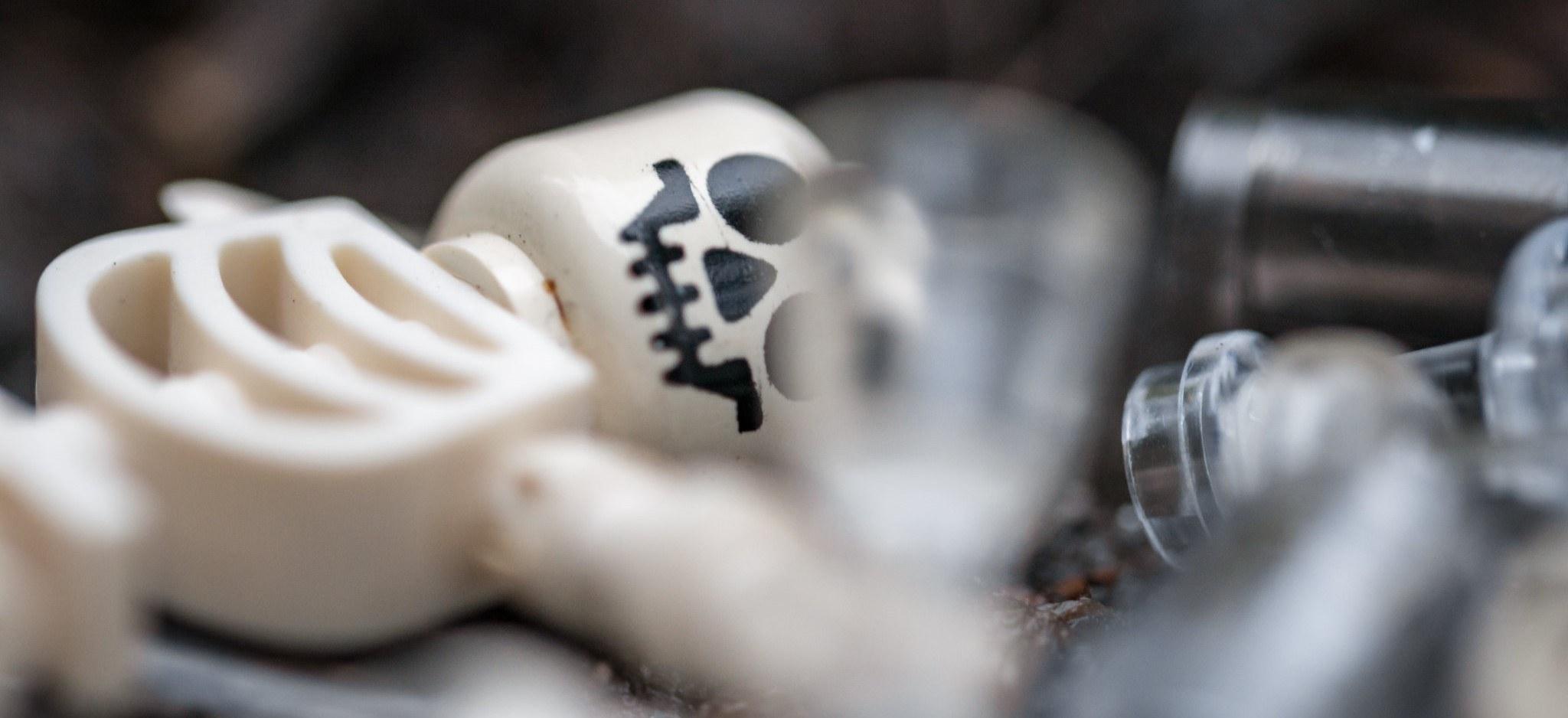 Un squelette LEGO