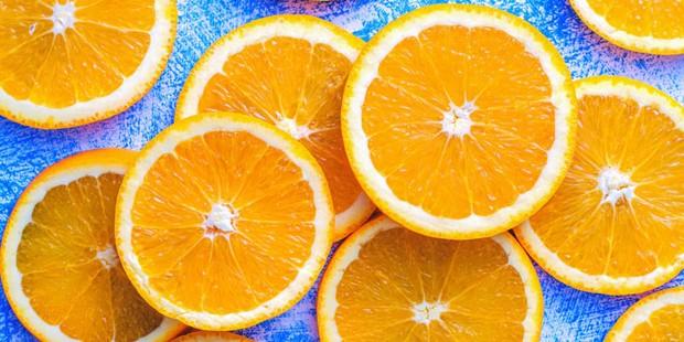 Tranches d'orange entières